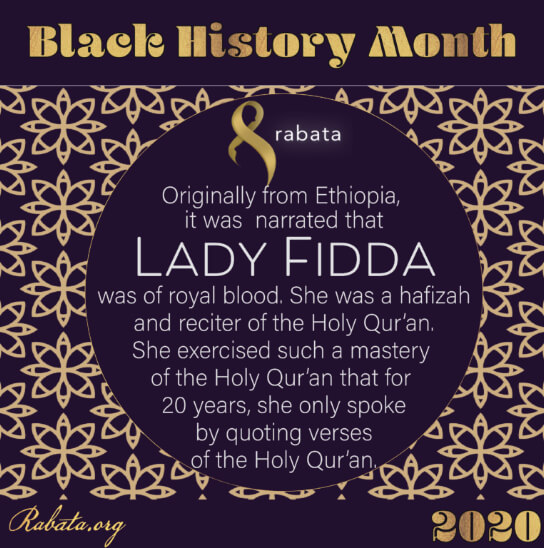 Black History Month - Lady Fidda