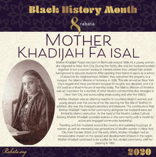 Black History Month - Mother Khadijah Faisal