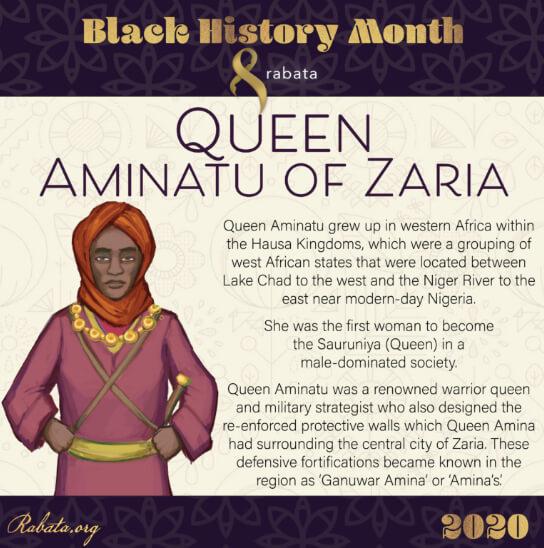 Black History Month - Queen Aminatu Zaria