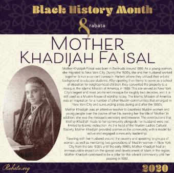 Black History Month - Mother Khadijah Faisal