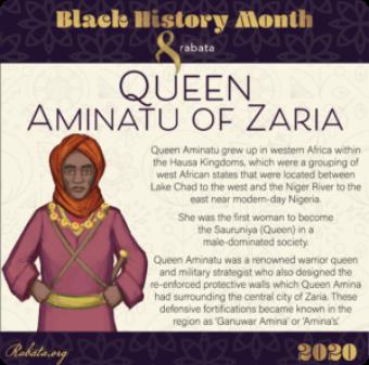 Black History Month - Queen Aminatu of Zaria