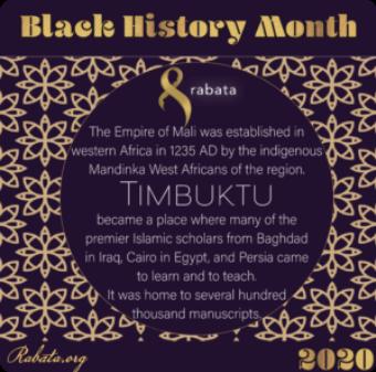 Black History Month - Timbukta